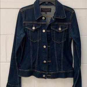 Juicy Couture denim jacket, dark blue wash, sz S.